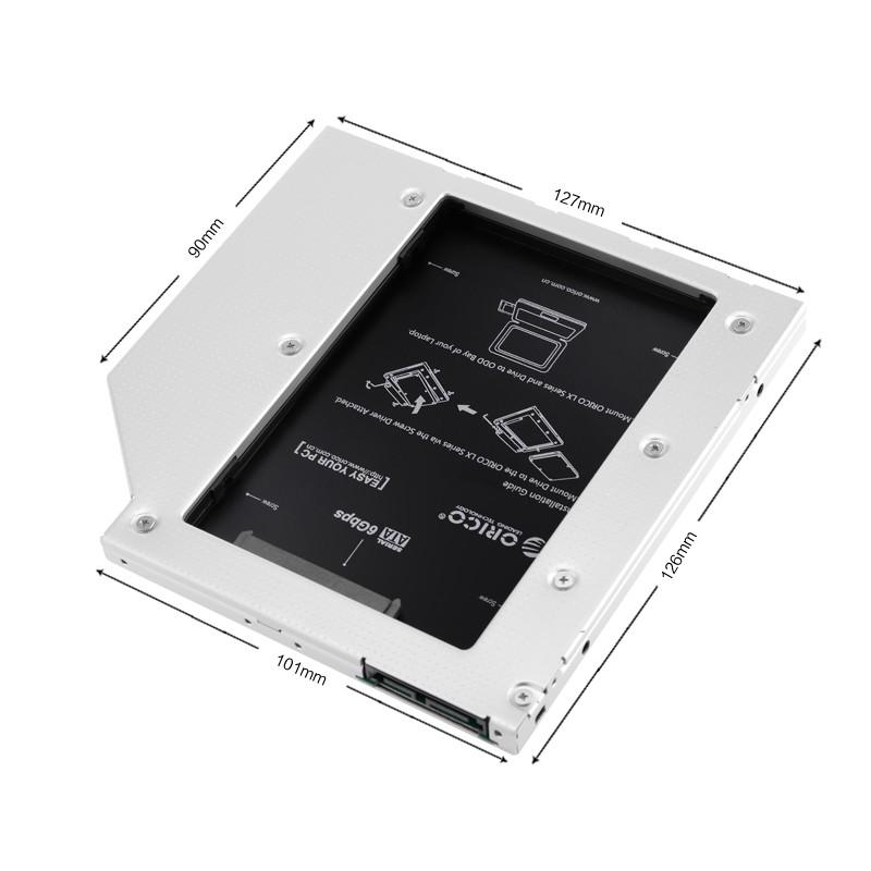 Adaptador SSD Caddy Gaveta Para Notebook (7 & 9.5mm) - L95SS-V1