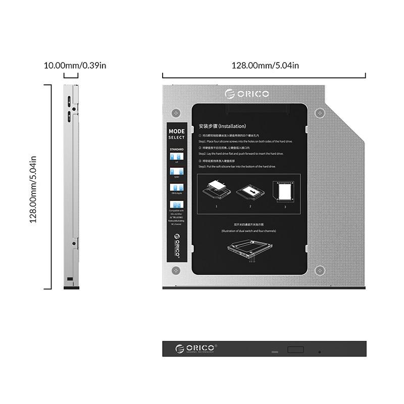Adaptador SSD Caddy Gaveta Para Notebook (7 & 9.5mm) - M95SS