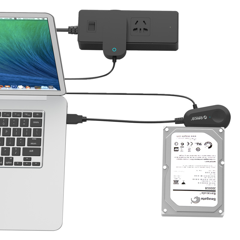 Adaptador USB 3.0 para HD / SSD SATA 2.5 e 3.5 com Fonte - 35UTS