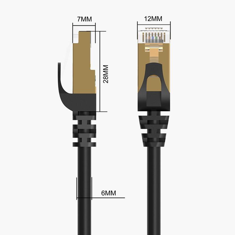 Cabo de Rede Ethernet 10000Mbps - CAT 7 - Blindado - 2 metros - PUG-C7-20