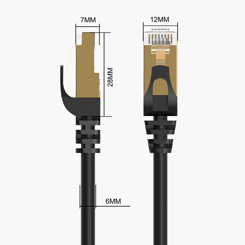 Cabo de Rede Ethernet 10000Mbps - CAT 7 - Blindado - 5 metros - PUG-C7-50