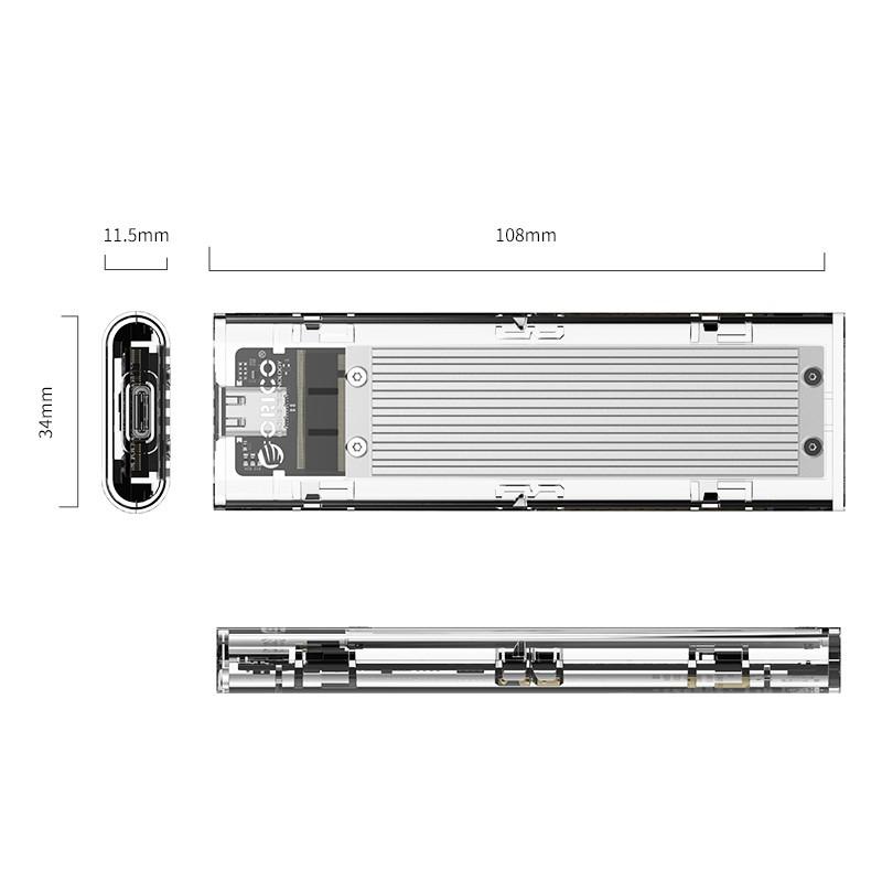 Case Externo para SSD NVMe M.2 10Gbps Type-C - TCM2-C3