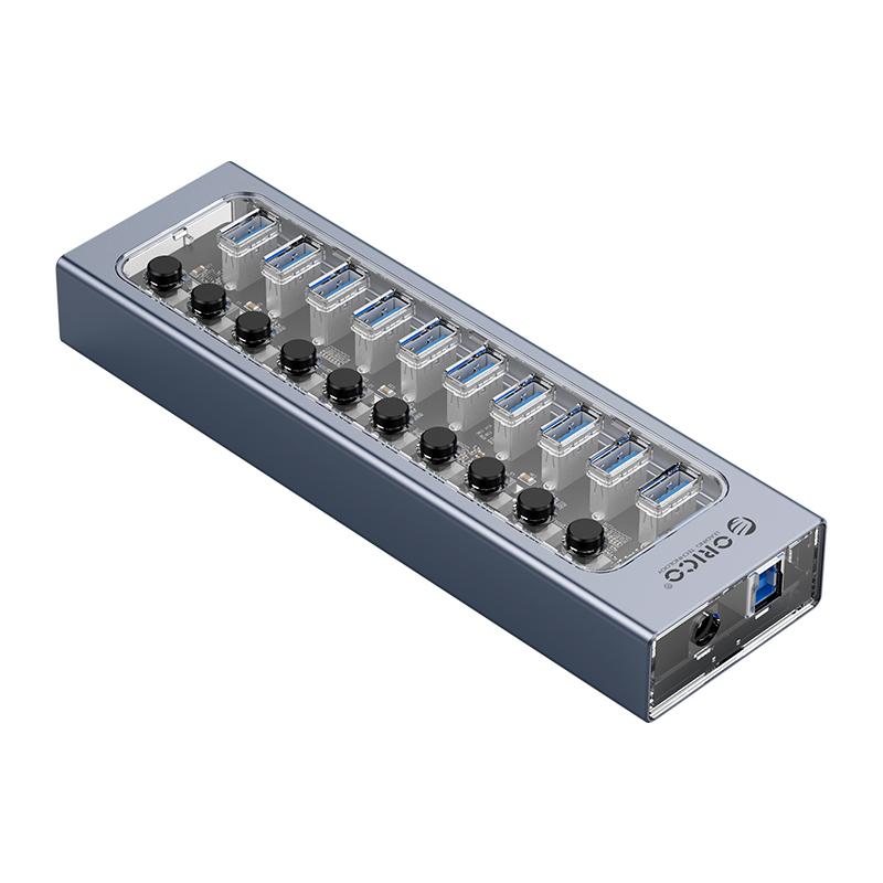 Hub 10 portas USB3.0 com Switches Individuais AT2U3-10AB