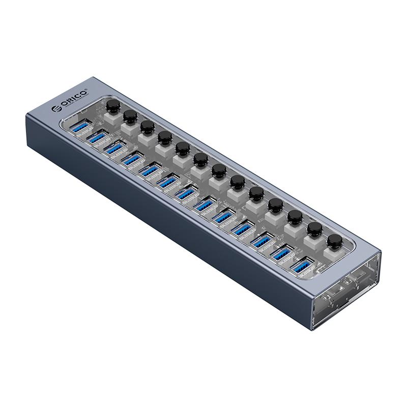 Hub 13 portas USB3.0 com Switches Individuais AT2U3-13AB