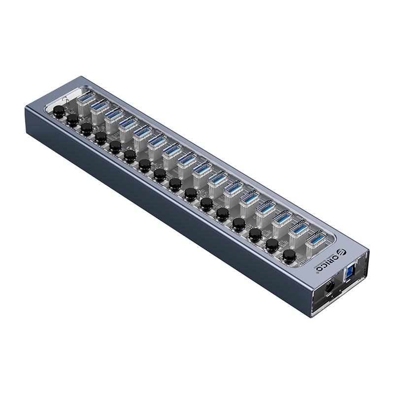 Hub 16 portas USB3.0 com Switches Individuais AT2U3-16AB
