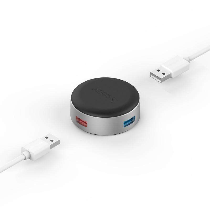 Hub de Aluminio - 4 portas USB 3.0 Com Função de Apoio - ANS1