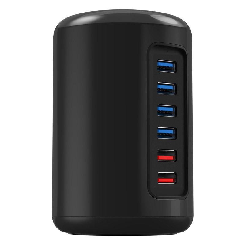Hub USB 3.0 - 4 portas + 2 portas Carregadoras 2.4A - RH4CS