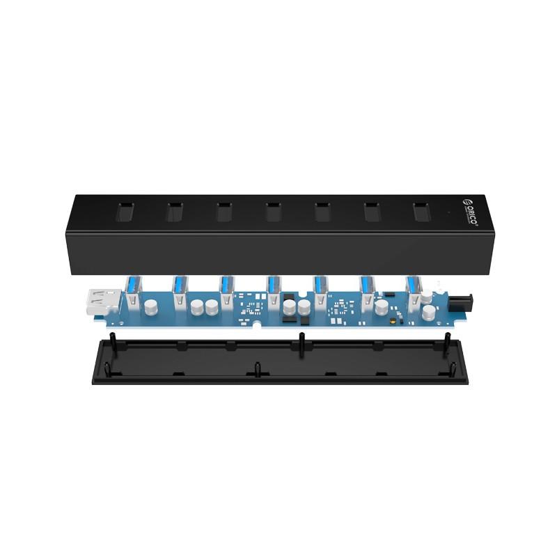 Hub USB 3.0 com Fonte - 7 Portas - H7013-U3-AD