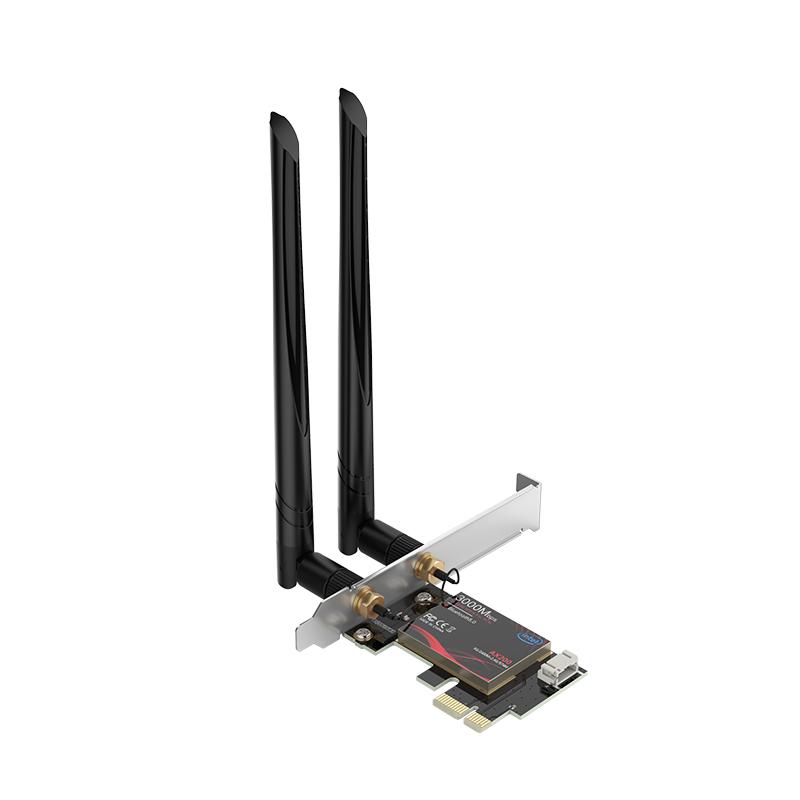 Placa de Rede PCI-E Bluetooth 5.0 WIFI6 Dual Band Wireless - PTR-XTU