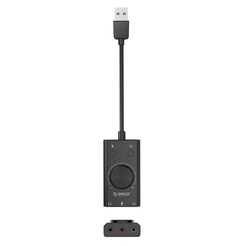Placa de Som Externa USB Multifunções - Microfone / Fone - SC2