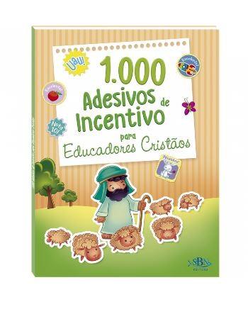 1000 Adesivos de Incentivo p/ Educ. Cristãos
