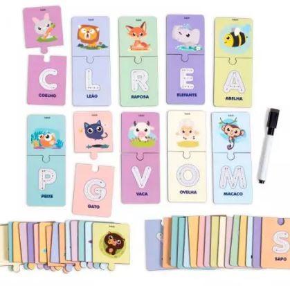 Alfabeto Ilustrado - Escreva e Apague