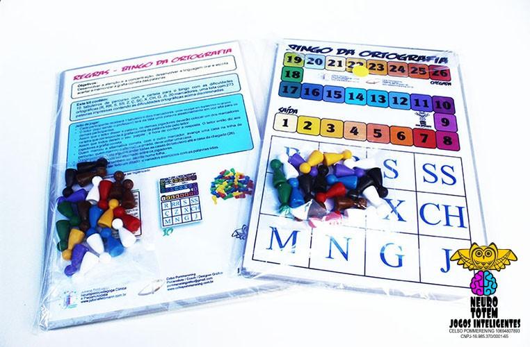 Bingo da Ortografia - Sala de Aula ou Consultório