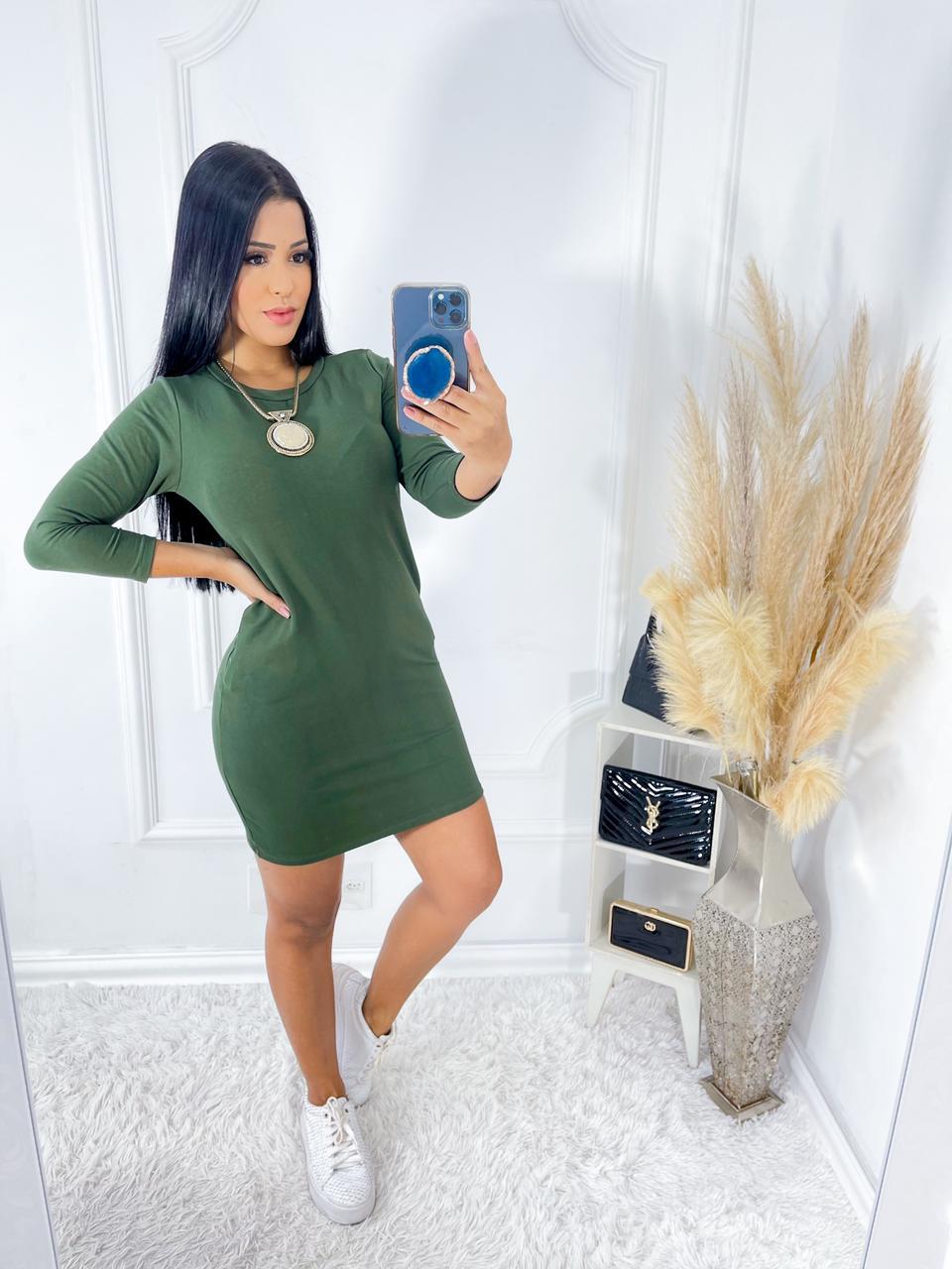 Vestido Liso Basiquinho