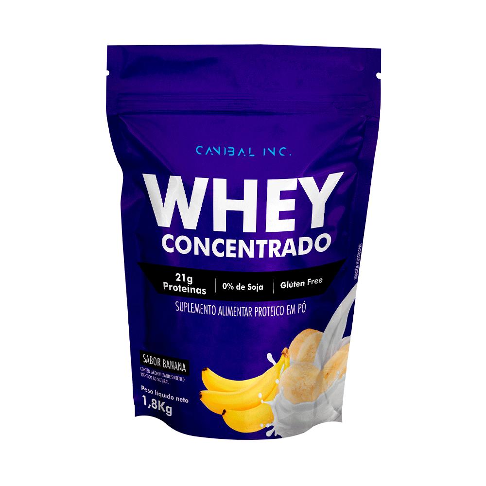 Whey Protein 100% 1,8kg - Sabor Banana