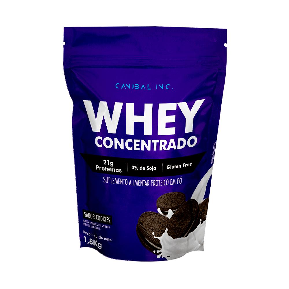 refil 1,8kg whey 100% cookies