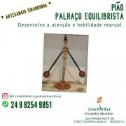 PIÃO PALHAÇADO EQUILIBRISTA