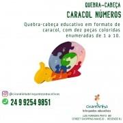 QUEBRA CABEÇA EDUCATIVO EM MADEIRA CARACOL COM NÚMEROS