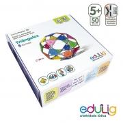 TRIÂNGULOS QUEBRA CABEÇA PUZZLE 3D - 5 SUGESTÕES DE MONTAGEM - 50 PEÇAS E CONEXÕES
