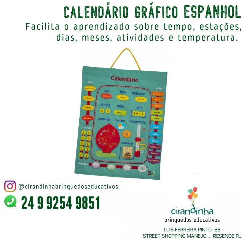 CALENDÁRIO GRÁFICO ESPANHOL