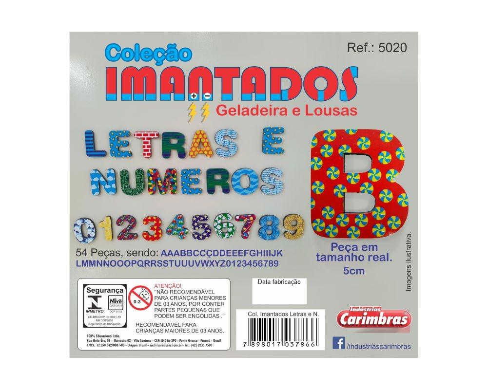 COLEÇAO IMANTADOS LETRAS E NÚMEROS (3CM)  GELADEIRA E LOUSAS