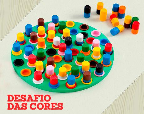 DESAFIO DAS CORES - 52 BASTÕES - JOGO EDUCATIVO