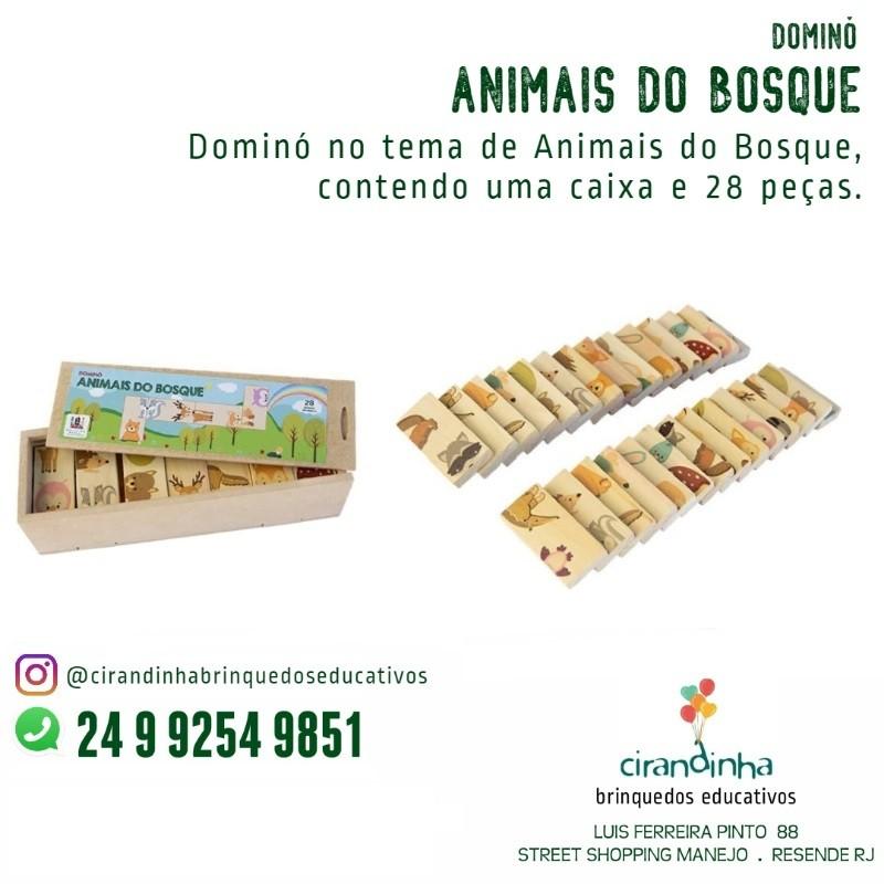 DOMINÓ ANIMAIS DO BOSQUE