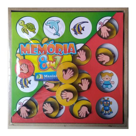 JOGO DA MEMÓRIA 8 EM 1