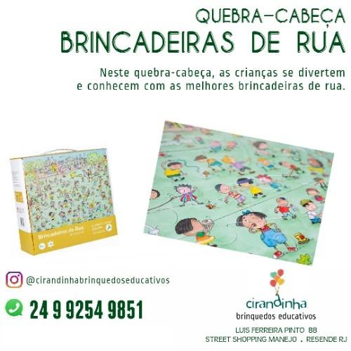 QUEBRA CABEÇA BRINCADEIRA DE RUA 36 PEÇAS
