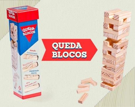 QUEDA BLOCOS - JOGO DE EQUILIBRIO - MADEIRA
