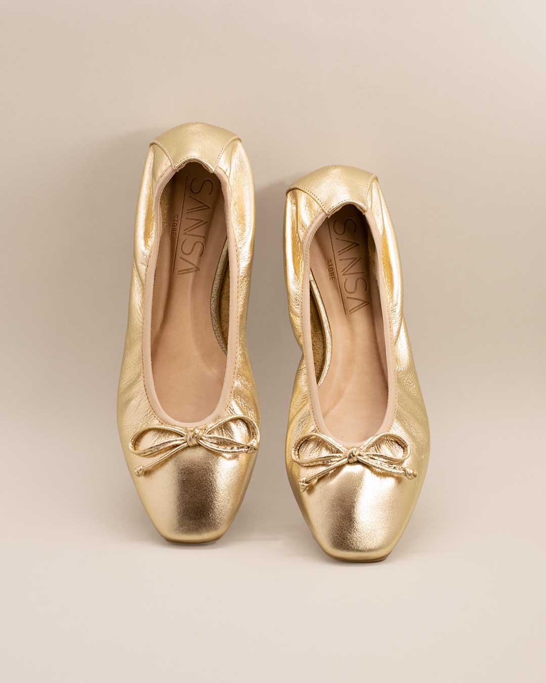 Sapatilha Feminina Bailarina Dourada