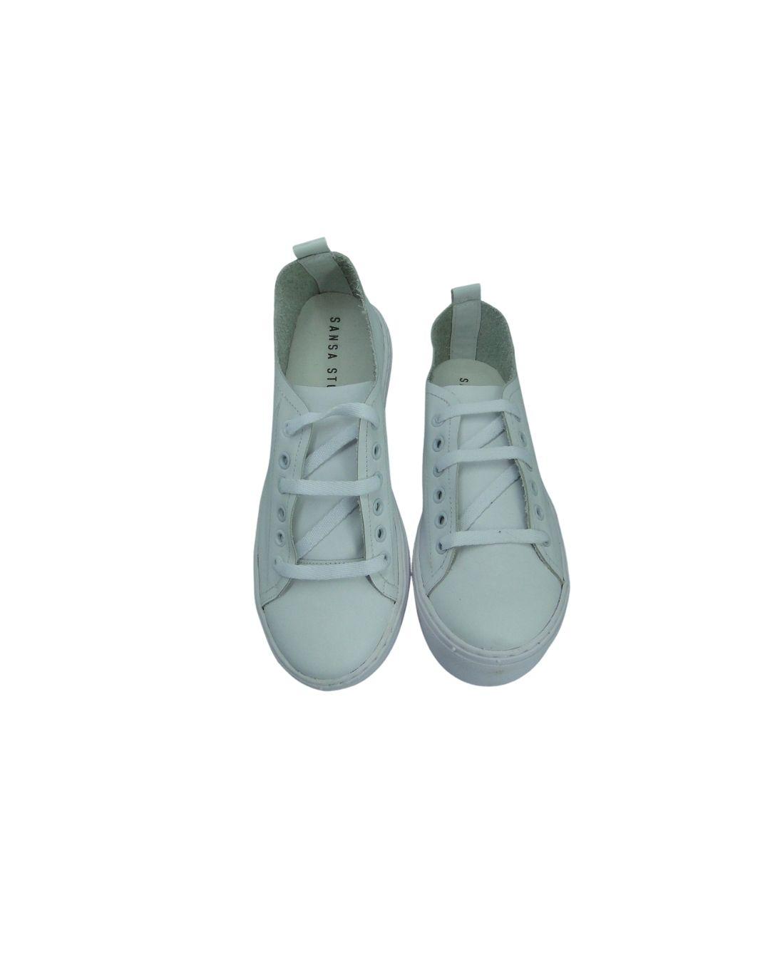 Tênis Confort Com Plataforma Mais Alta Branco
