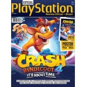 Revista Superpôster PlayStation - Crash Bandicoot 4 (Sem dobras)