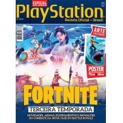 Revista Superpôster PlayStation - Fortnite Terceira Temporada (Sem dobras)