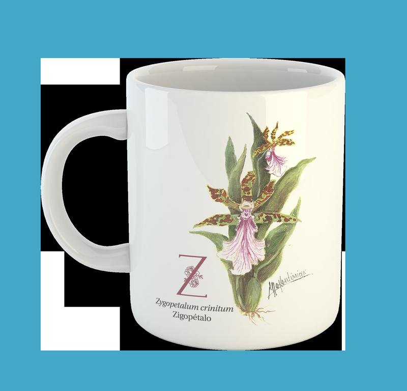 Canecas Flores Nativas do Brasil de A a Z - Coleção Completa