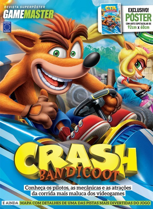 Revista Superpôster - Crash Bandicoot (Sem Dobras)