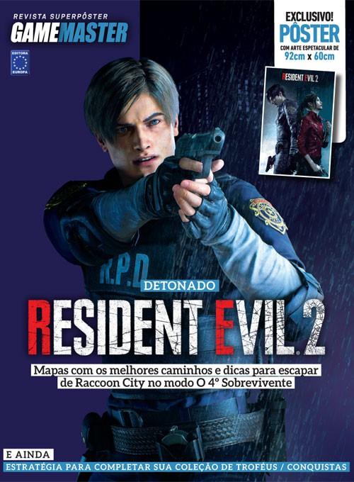 Revista Superpôster - Detonado Resident Evil 2 - Leon (Sem Dobras)