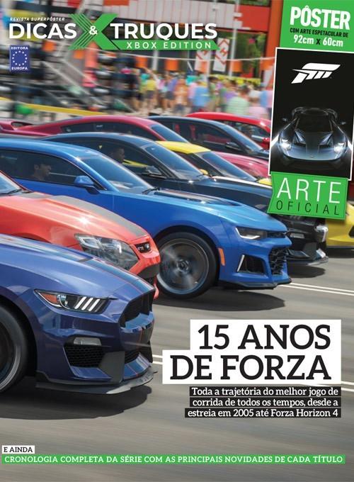 Revista Superpôster Dicas e Truques Xbox Edition Edição 5 - 15 anos de Forza