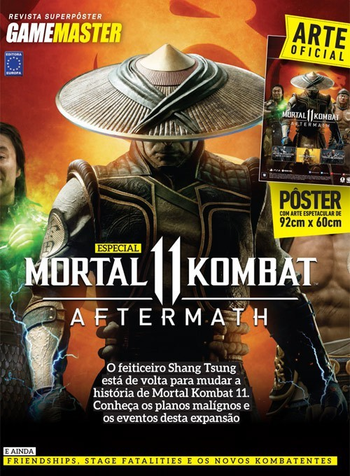 Revista Superpôster - Mortal Kombat 11 Aftermath (Sem dobras)