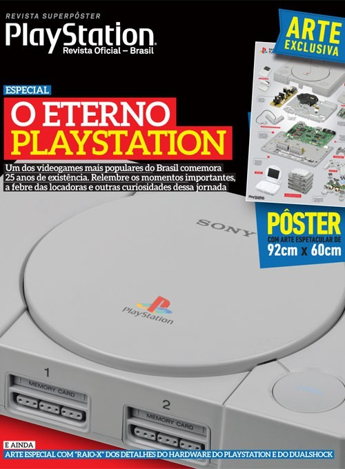 Revista Superpôster - O Eterno PlayStation (Sem Dobra)