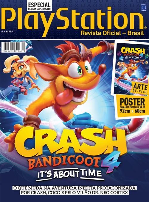 Revista Superpôster PlayStation - Crash Bandicoot 4 (Sem dobras)