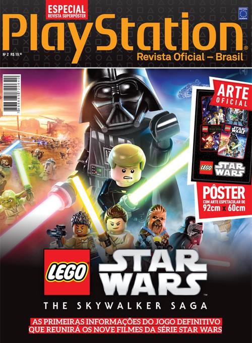 Revista Superpôster PlayStation - Lego Star Wars: The Skywalker Saga (Sem dobras)