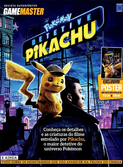 Revista Superpôster - Pokémon Detetive Pikachu (Sem Dobras)