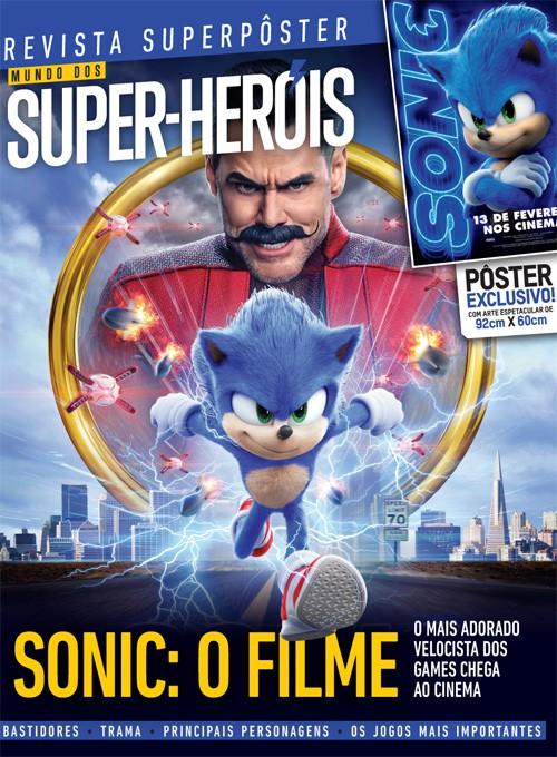 Revista Superpôster - Sonic: O Filme (Sem dobras)