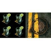 On the Road- Conjunto com 4 porta copos