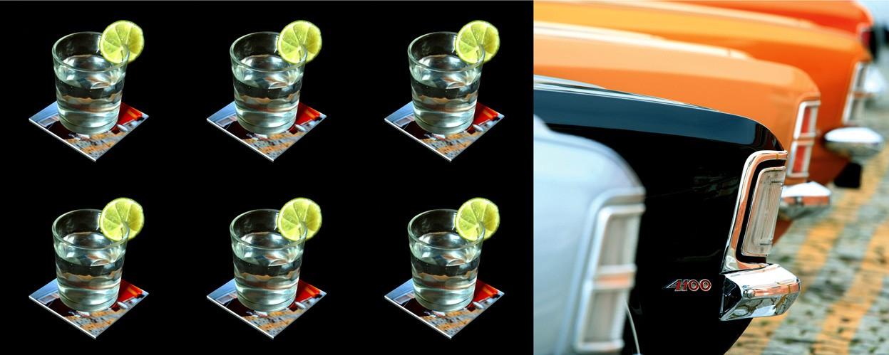 Carros - Conjunto com 6 porta copos