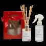 Kit Perfumado Difusor de aromas + Renovador de Lençóis Flor de Algodão