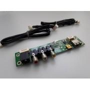 PLACA AV/USB/RCA SEMP TOSHIBA LC3255(A)WDA LC3255(A) USADA