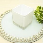 Castiçal Vidro quadrado para velas