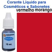 CORANTE 10 ML SABONETES VERMELHO MORANGO